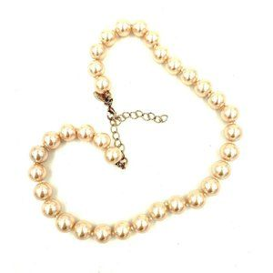 Kenneth Jay Lane Pink Simulated Pearl Necklace